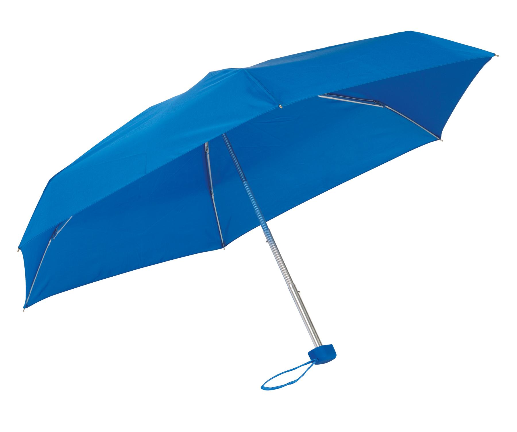 Lekki, super-mini parasol POCKET, niebieski