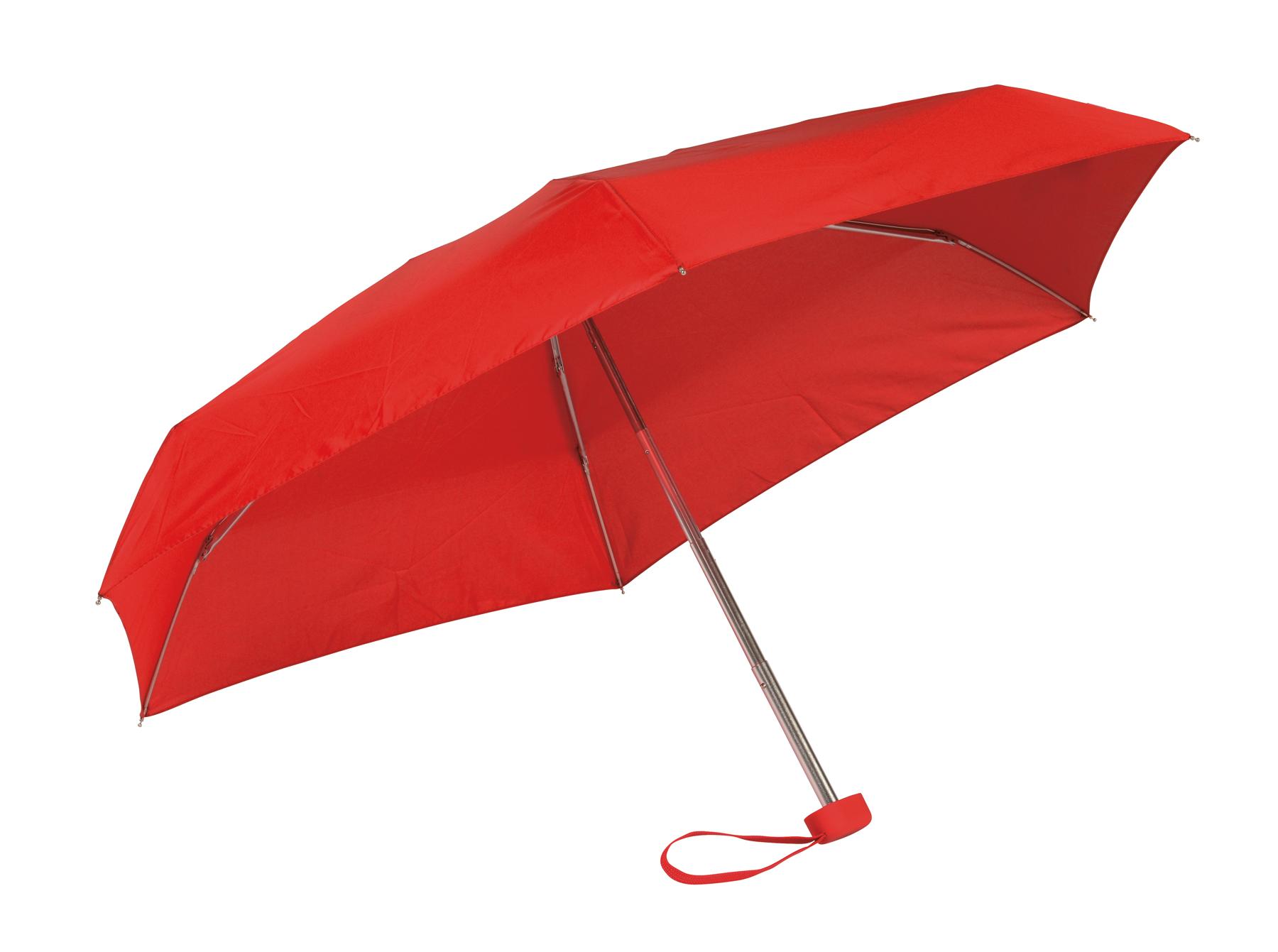 Lekki, super-mini parasol POCKET, czerwony