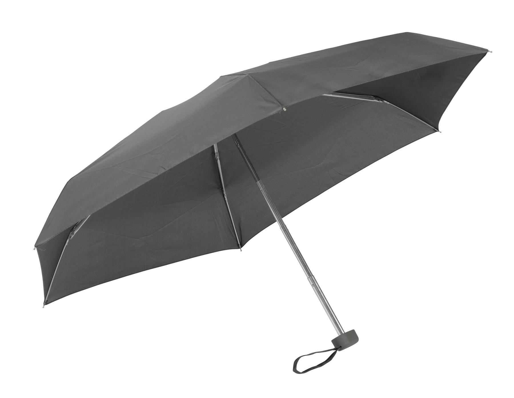 Lekki, super-mini parasol POCKET, szary