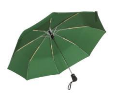Automatyczny, wiatroodporny, kieszonkowy parasol BORA, ciemnozielony