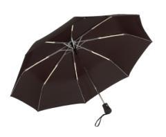 Automatyczny, wiatroodporny, kieszonkowy parasol BORA, czarny