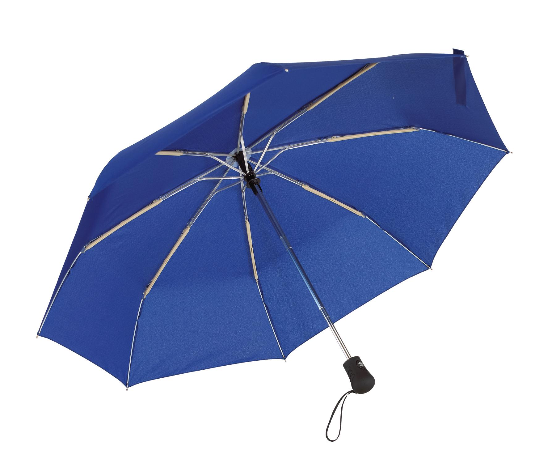 Automatyczny, wiatroodporny, kieszonkowy parasol BORA, niebieski