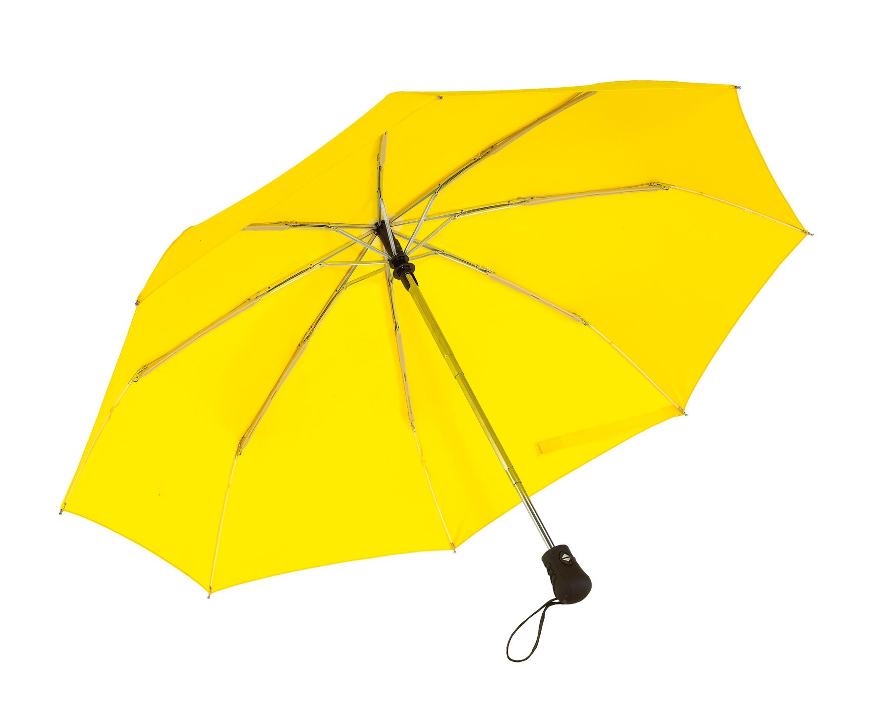 Automatyczny, wiatroodporny, kieszonkowy parasol BORA, żółty