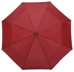 Automatyczny, wiatroodporny, składany parasol ORIANA, ciemnoczerwony