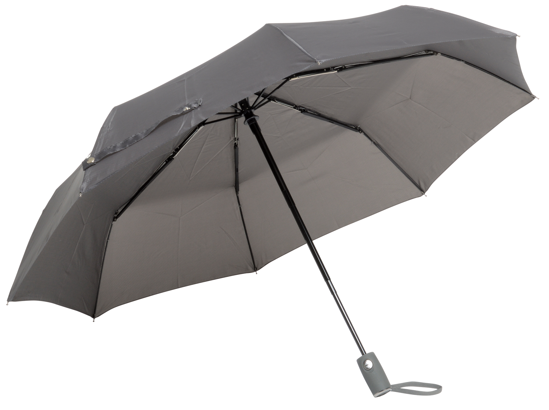 Automatyczny, wiatroodporny, składany parasol ORIANA, szary