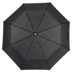 Automatyczny, wiatroodporny, kieszonkowy parasol STREETLIFE, czarny, jasnozielony