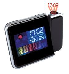Zegar na biurko z projektorem COLOUR, czarny