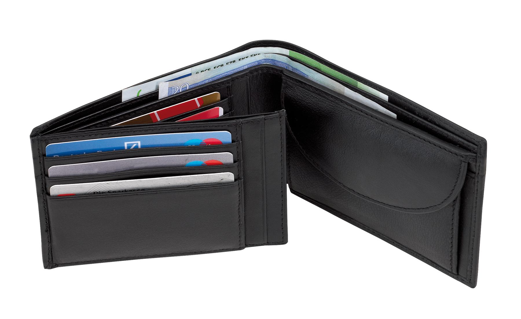 Oryginalny skórzany portfel DAX, czarny