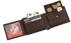 Skórzana portmonetka WILD STYLE, brązowy