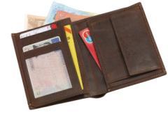 Skórzany portfel WILD STYLE, brązowy
