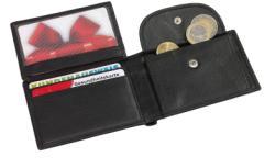 Skórzany portfel HOLIDAY, czarny
