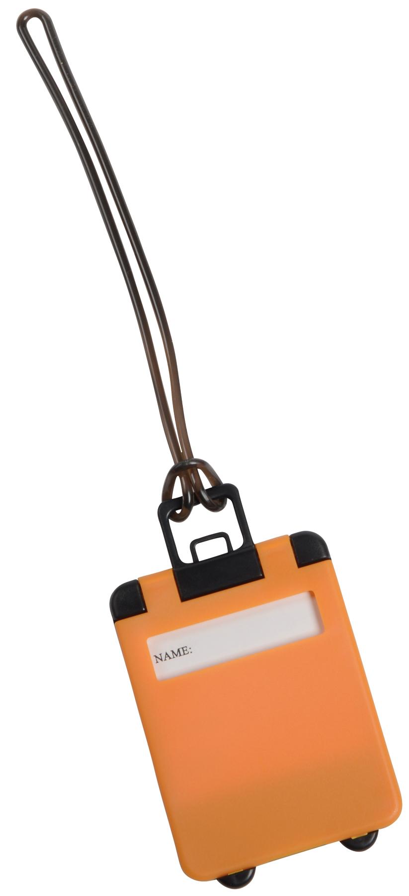 Przywieszka bagażowa WANDERLUST, pomarańczowy