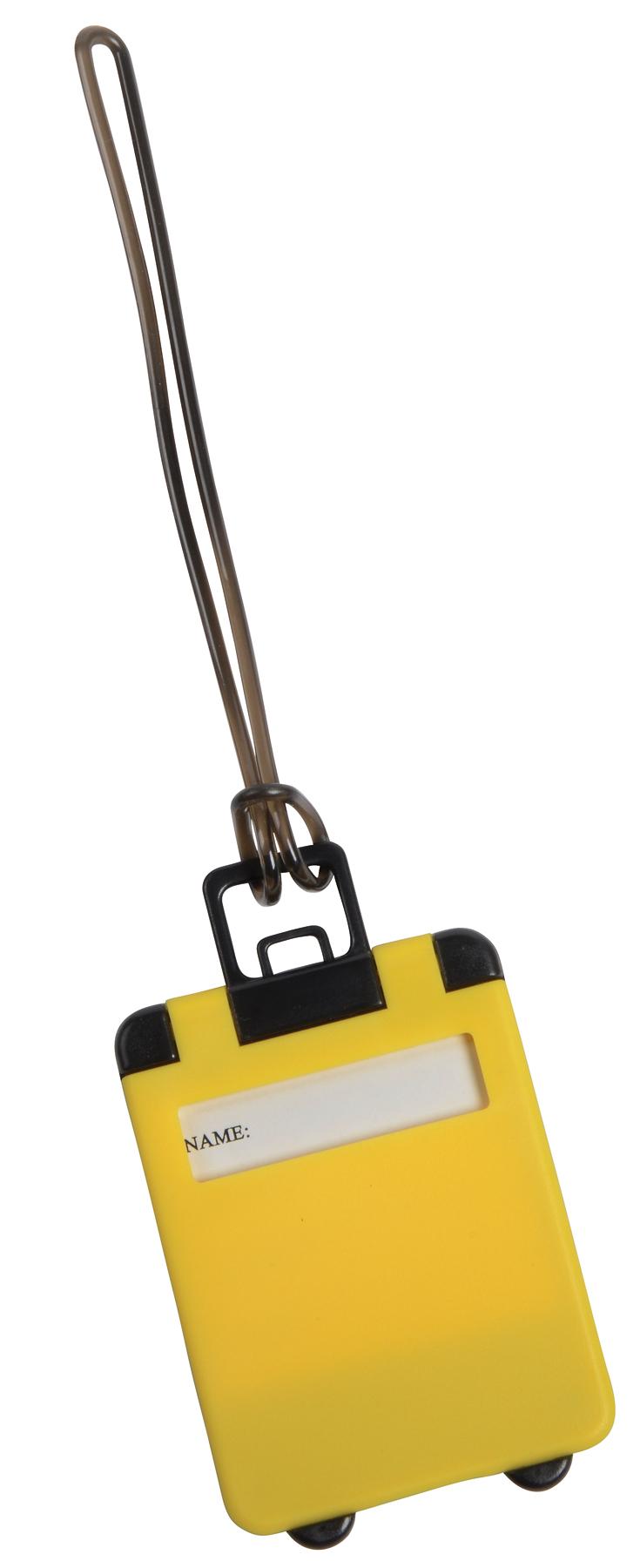 Przywieszka bagażowa WANDERLUST, żółty