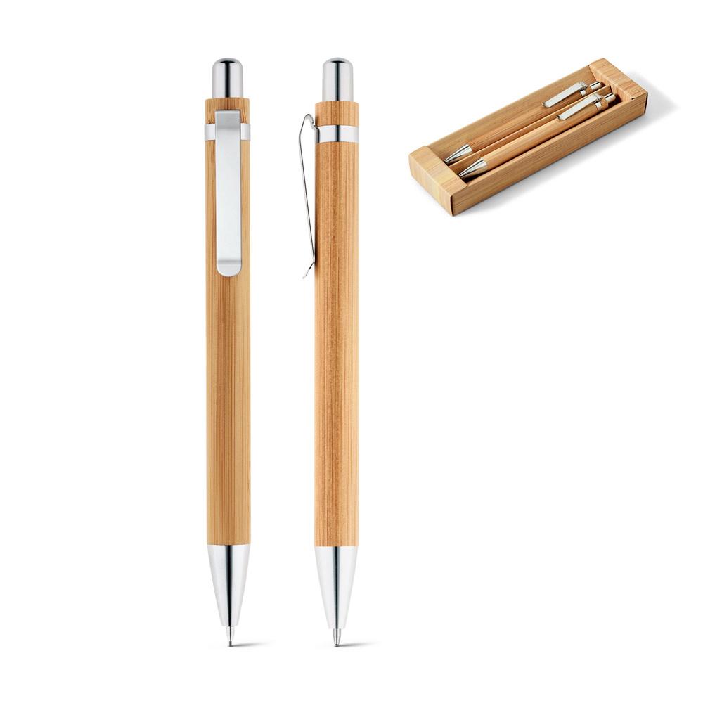 Zestaw, pióro kulkowe i ołówek mechaniczny GREENY