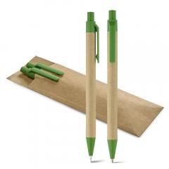 Zestaw, pióro kulkowe i ołówek mechaniczny LEAF