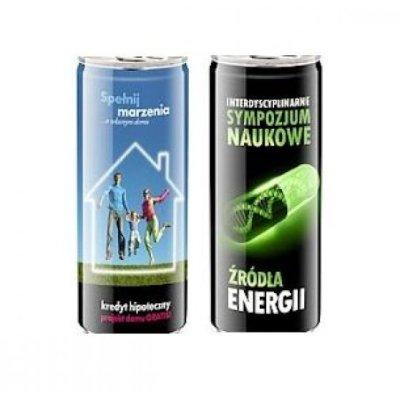 Napoje energetycznePuszki