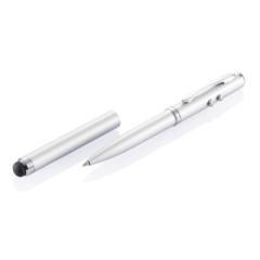 Długopis 4 w 1, touch pen, wskaźnik laserowy, latarka