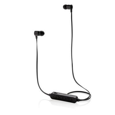Bezprzewodowe słuchawki douszne z podświetleniem logotypu