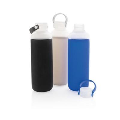 Szklana butelka sportowa 500 ml, w pokrowcu