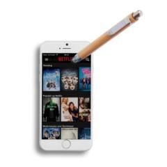 Bambusowy długopis, touch pen