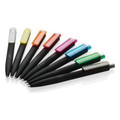 Delikatny w dotyku, czarny długopis X3