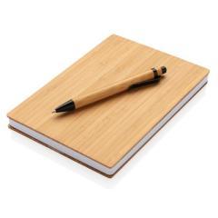 Bambusowy notatnik A5 z bambusowym długopisem