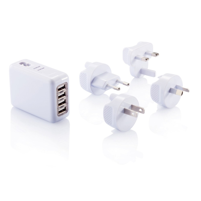 Podróżna wtyczka z 4 portami USB
