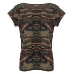 Koszulka reklamowa t-shirt camo lady