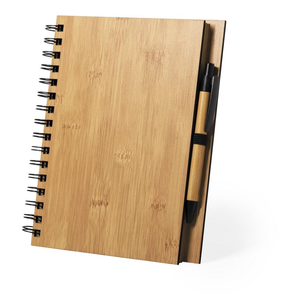 Długopis reklamowy BambusowyNotatnik B7