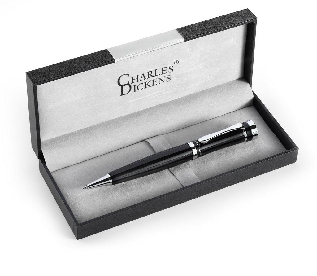 Długopis reklamowy Charles Dickens w pudełku